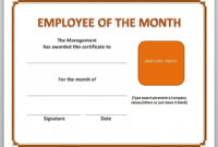 13 Free Certificate Templates For Word  Microsoft And pertaining to Free Employee Of The Month Certificate Template