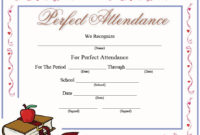 13 Free Sample Perfect Attendance Certificate Templates for Awesome Attendance Certificate Template Word