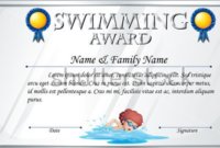 14 Free Swimming Certificate Templates  Samples Designs inside Swimming Certificate Templates Free