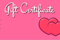 14 Free Valentine Gift Certificate Templates  Templates Bash in Best Valentine Gift Certificate Template