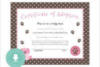 15 Adoption Certificate Templates  Free Printable Word with regard to Best Adoption Certificate Template