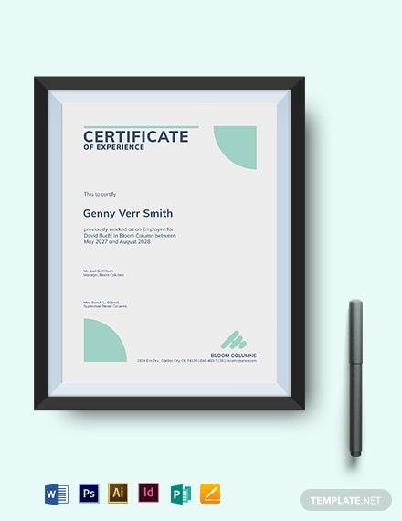 15 Experience Certificate Templates  Pdf Google Docs with Template Of Experience Certificate