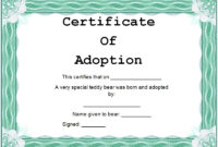 15 Free Printable Real  Fake Adoption Certificate Templates with regard to Best Adoption Certificate Template