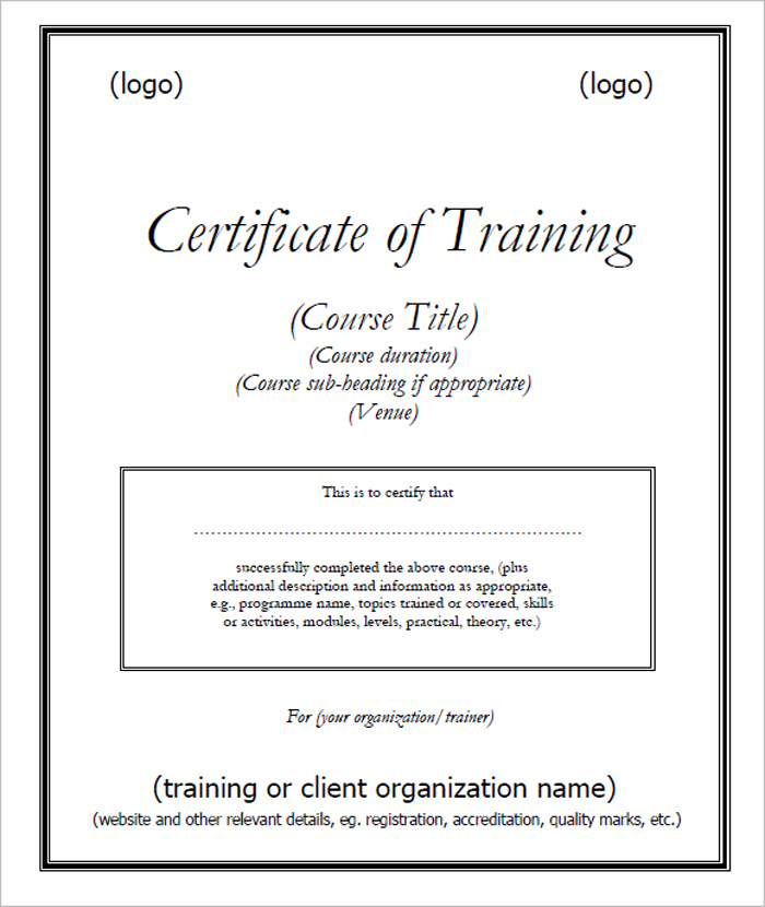 15 Training Certificate Templates  Free Download  Designyep within Robotics Certificate Template Free