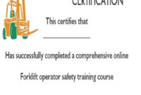 15Forklift Certification Card Template For Training regarding Forklift Certification Card Template