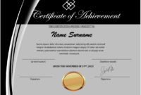 16 Free Achievement Certificate Templates  Ms Word Templates for Awesome Word Template Certificate Of Achievement