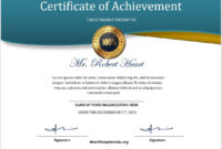 16 Free Achievement Certificate Templates  Ms Word Templates with regard to Awesome Free Printable Certificate Of Achievement Template