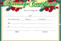 16 Free Marriage Certificate Templates  Templates Bash in Free Certificate Of Marriage Template