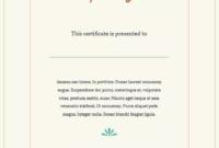 16 Training Certificate Templates  Training Certificate pertaining to Training Course Certificate Templates