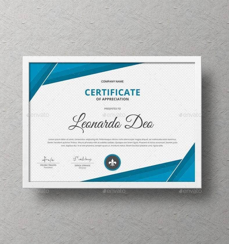 16 Worlds Best Award Certificate Designs  Templates with Free Award Certificate Design Template