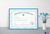 17 Adoption Certificate Templates Free Pdf Word Design intended for Free Blank Adoption Certificate Template