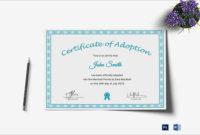17 Adoption Certificate Templates Free Pdf Word Design throughout Stuffed Animal Birth Certificate Template 7 Ideas