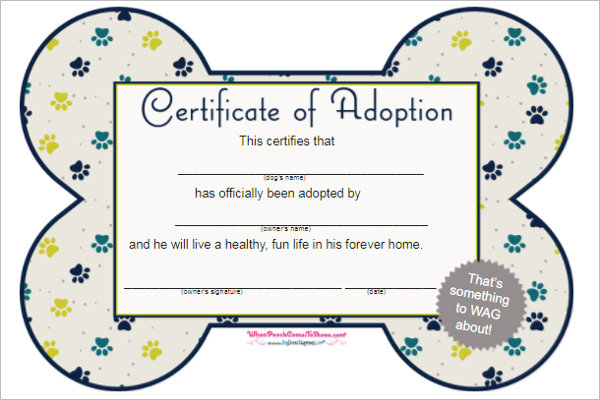 17 Adoption Certificate Templates Free Pdf Word Design with regard to Best Pet Adoption Certificate Template Free 23 Designs