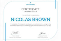 17 Free Certificate Templates  Participation Completion for Awesome Free Employee Appreciation Certificate Template