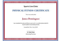 17 Free Fitness Certificate Templates Customize intended for Physical Fitness Certificate Template Editable