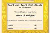 17 Sports Certificate Templates  Free Printable Word regarding 10 Free Printable Softball Certificate Templates