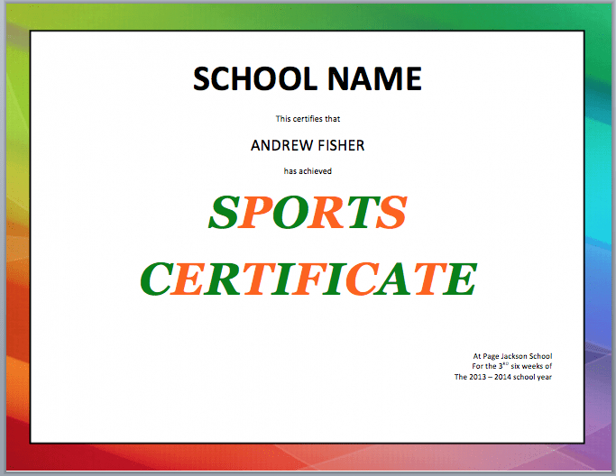 17 Sports Certificate Templates  Free Word  Pdf Samples regarding Amazing 10 Free Printable Softball Certificate Templates