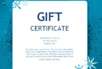 173 Free Gift Certificate Templates You Can Customize in Printable Christmas Gift Certificate Template Free Download