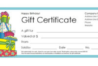 173 Free Gift Certificate Templates You Can Customize with Best Birthday Gift Certificate Template Free 7 Ideas