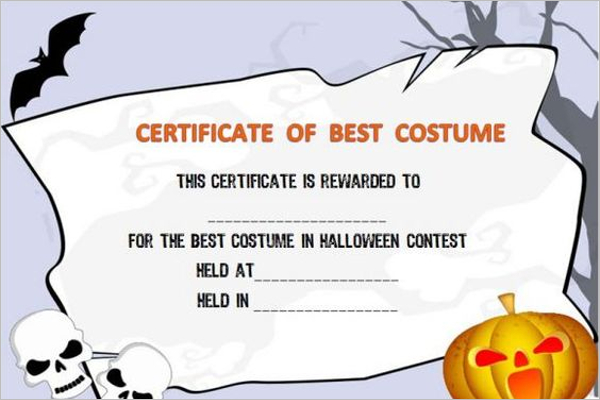 18 Halloween Certificate Templates Free Printable Word with regard to Amazing Winner Certificate Template Free 12 Designs