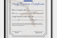18 Sample Baptism Certificate Templates  Free Sample with regard to Baby Christening Certificate Template