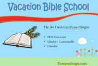 18 Vacation Bible School Certificate Templates Free inside Free Vbs Certificate Template