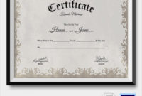 19 Marriage Certificate Templates  Sample Templates in Free Wedding Gift Certificate Template Word 7 Ideas