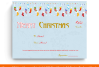 19 Merry Christmas Gift Certificate Templates Ms Word in Merry Christmas Gift Certificate Templates