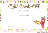 1St Place Chili Cook Off Certificate Free Printable 3 for Amazing First Place Award Certificate Template