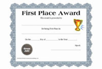 20 1St 2Nd 3Rd Place Certificate Template ™ In 2020 throughout Pe Certificate Templates