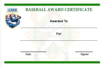 20 Attention Grabbing Free Printable Baseball within Best Baseball Achievement Certificate Templates
