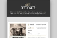 20 Best Free Business Gift Certificate Templates Ms Word within Gift Certificate Template Photoshop
