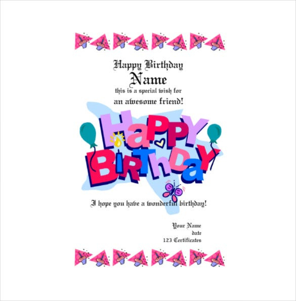 20 Birthday Gift Certificate Templates  Free Sample for Birthday Gift Certificate