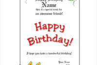 20 Birthday Gift Certificate Templates  Free Sample throughout Amazing Present Certificate Templates