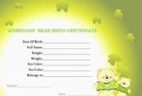 20 Build A Bear Birth Certificate Pdf ™ In 2020  Birth with Quality Build A Bear Birth Certificate Template