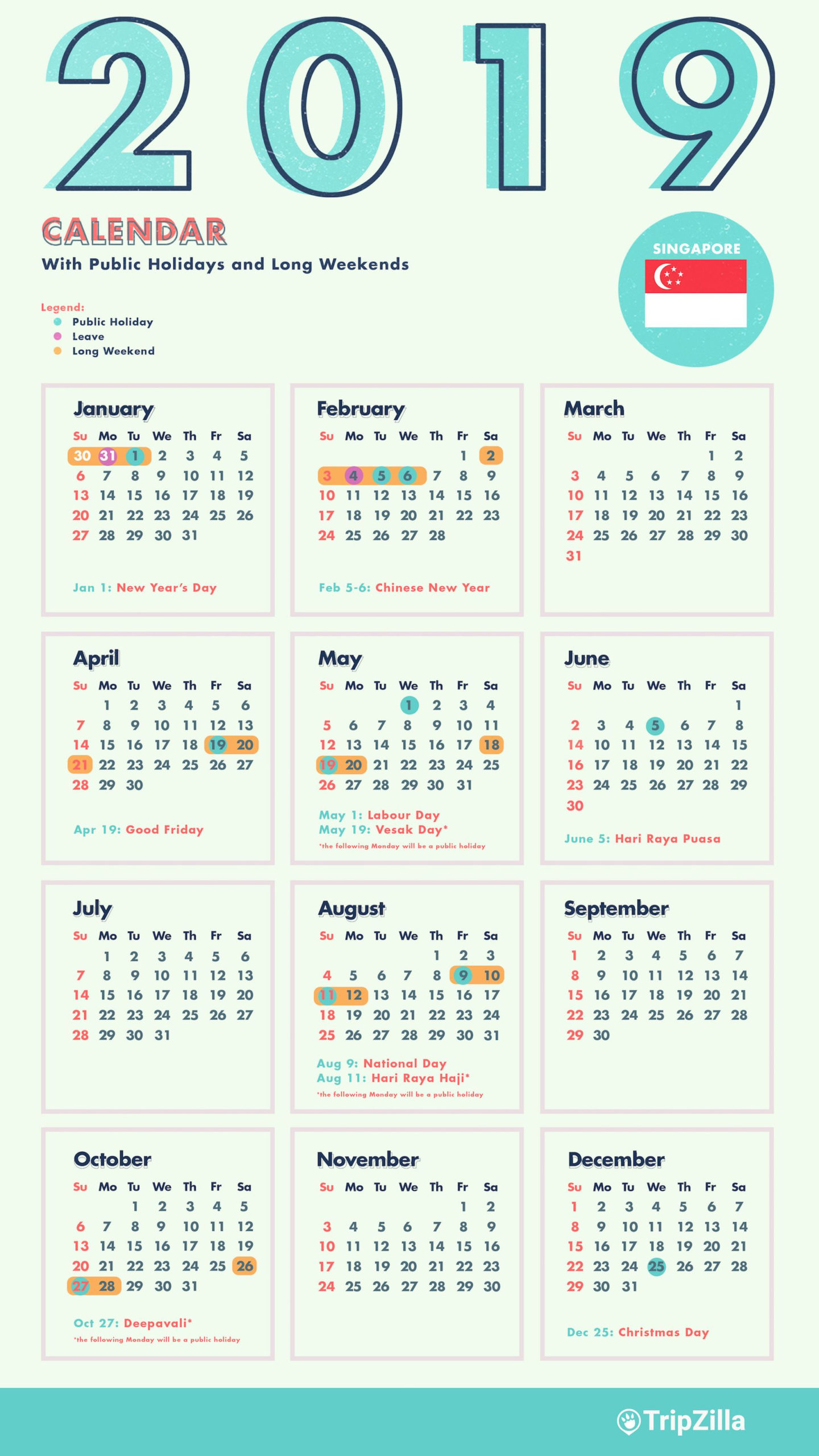 20 Calendar 2021 Singapore  Free Download Printable with regard to Free Happy New Year Certificate Template Free 2019 Ideas