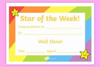20 Certificate Ideas For Students ™ In 2020  Star Of The pertaining to Printable Good Behaviour Certificate Template 10 Kids Awards