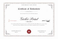 20 Certificate Of Authenticity For Photography regarding Free Certificate Of Authenticity Photography Template