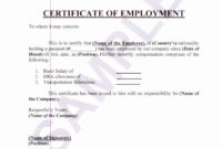 20 Certificate Of Employment Template ™ In 2020 in Sample Certificate Employment Template