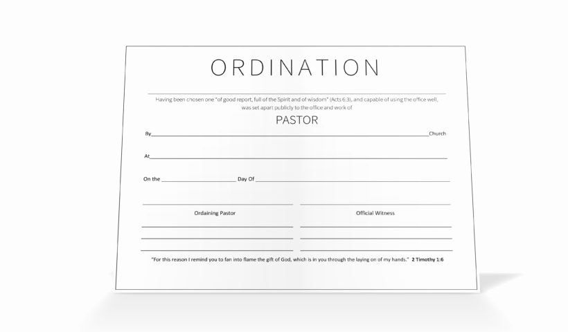20 Certificate Of Ordination Template ™ In 2020 intended for Membership Certificate Template Free 20 New Designs