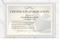20 Child Dedication Certificate Templates ™ In 2020  Baby throughout Awesome Baby Dedication Certificate Template
