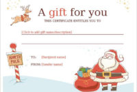 20 Christmas Gift Certificate Templates  Word Pdf Psd within Gift Certificate Template In Word 10 Designs