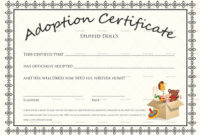 20 Dog Adoption Certificate Template Free in Best Dog Adoption Certificate Editable Templates