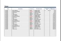 20 Editable Log Spreadsheet Templates For Excel  Templateinn for Car Expense Log Book Template