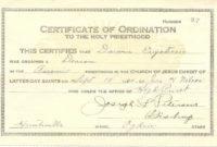 20 Elder Ordination Certificate Template ™ In 2020 with regard to Printable Ordination Certificate Templates