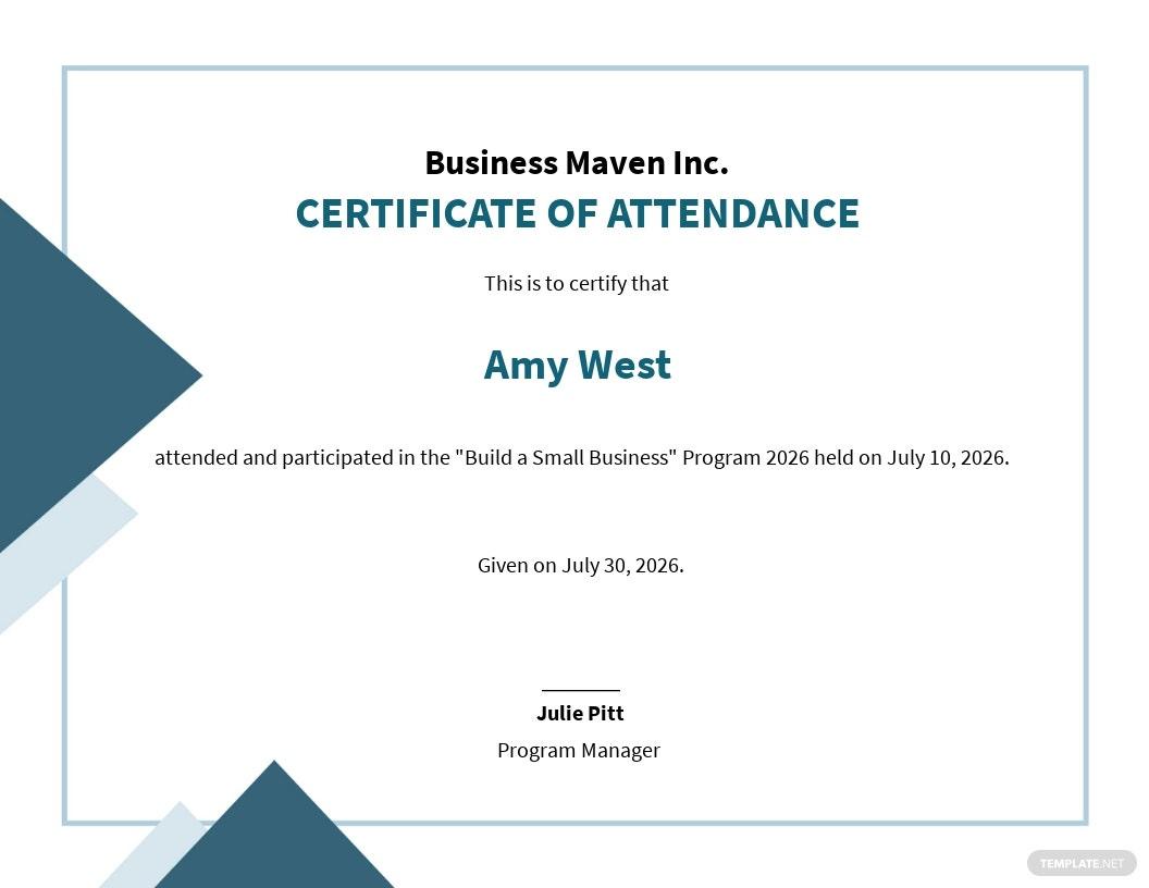20 Free Attendance Certificate Templates Customize inside Amazing Perfect Attendance Certificate Template Editable