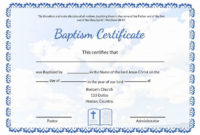 20 Free Baptism Certificate Template ™ In 2020 with regard to Roman Catholic Baptism Certificate Template