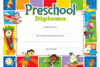 20 Free Preschool Certificate Template ™ In 2020 throughout Amazing Kindergarten Certificate Of Completion Free