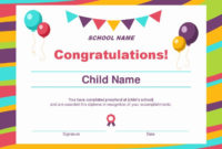 20 Free Preschool Certificate Templates ™ In 2020 pertaining to Free Choir Certificate Templates 2020 Designs