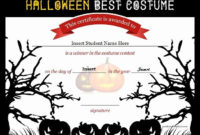 20 Halloween Costume Certificate Template ™ In 2020 regarding Halloween Costume Certificate